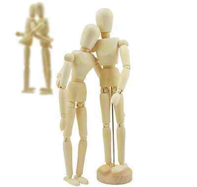 Wooden Manikin Figures Jointed Model Painting Artist Drawing Sketch Mannequin