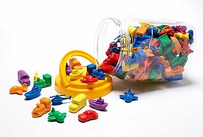 144 pieces Transport Counters for Sorting Counting Pretend Play Maths Games