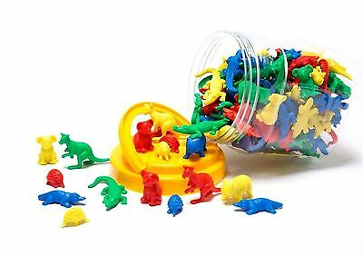 120 Australian Animals Counters in Storage Jar - Counting Sorting Maths Games