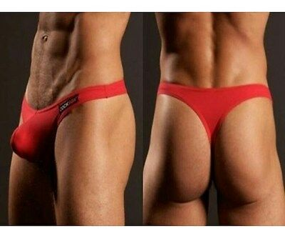 Slip String Rouge Sexy Homme Viril Thong Man Underwear Red Uomo Mann Lenceria