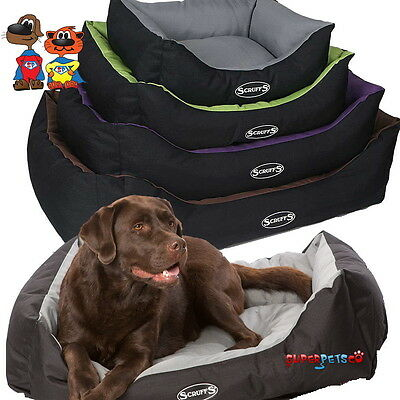 Scruffs Expedition Water Resistant Pet Dog Box Bed 4 Sizes Graphite Chocolate