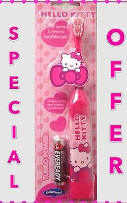 HELLO KITTY Battery powered toothbrush ,ages 2-6 soft