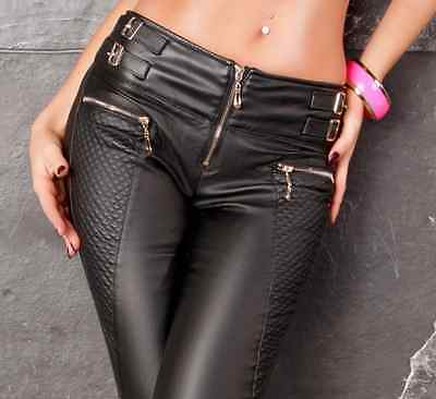 Sexy New Women's Stretchy Jeans Trousers High Waisted Skinny Slim Wet Look A 161
