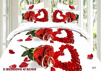 3D Effect Bedding Complete Set(217) With Duvet Cover,Pillow Cases & Fitted Sheet