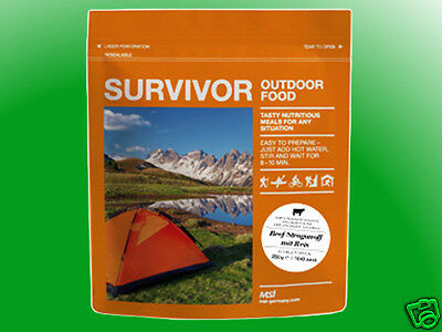 "(3,16€/100g)    Survivor Outdoor Food - Pasta ""Bolognese"" mit Rindfleisch"