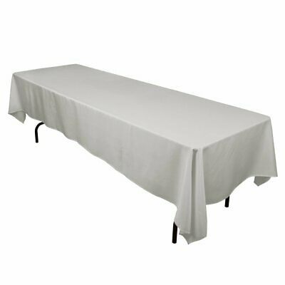 """10 packs  60"""" x 126"""" Inch RECTANGLAR Polyester Tablecloths Hotel 25 COLORS USA"""