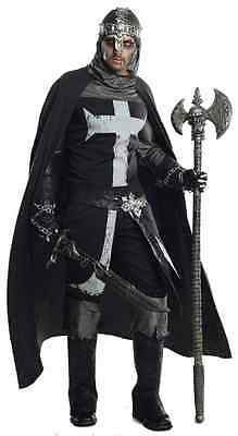 The Black Knight Medieval Warrior Grand Heritage Halloween Deluxe Adult Costume