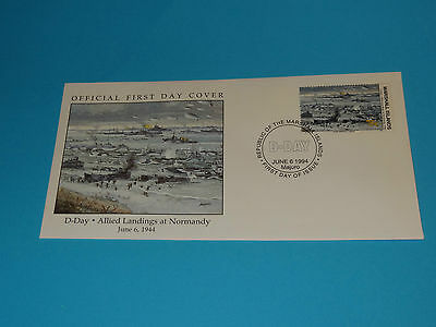 WWII FDC W74-4 D-Day Normandy Germany Op Overlord * 50th Anniversary
