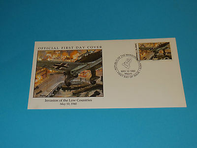 WWII FDC W8-1 Invasion Low Countries * Netherlands Germany * 50th Anniversary