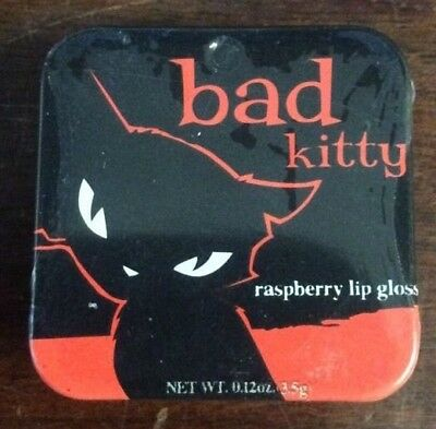 Emily the Strange Bad Kitty Raspberry Lip Gloss .12 oz 3.5 g Boston America