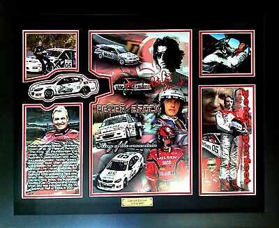 New Peter Brock Limited Edition Memorabilia Framed