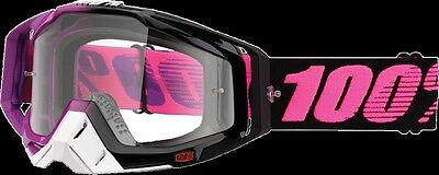 100% Racecraft Clear Lens Haribo MX Offroad Goggles PINK/BLACK
