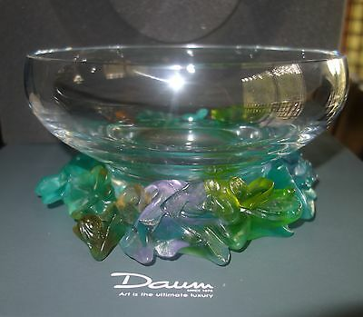 Daum France crystal bowl Fairy Dream Collection Signed new