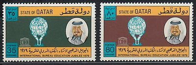 Qatar 1979 ** Mi.770/71 Erziehung Education UNESCO Globe Globus