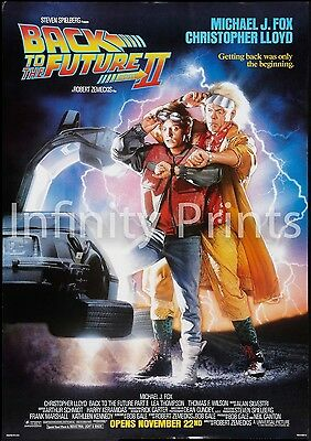 Back to the Future 2 Movie Film Poster A2 A3 A4