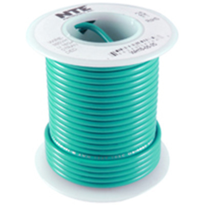 NTE WH18-05-25  Hook Up Wire Stranded Wire 300V 18AWG 25ft Green NEW!!!