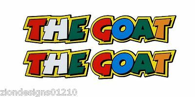 `THE GOAT` sticker motorcycle decals  graphics x 2