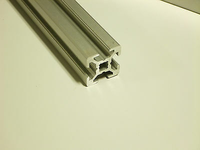 """TNUTZ - EXM-2020 - Smooth 20mm x 20mm T-Slotted Aluminum Extrusion - 24"""" long."""