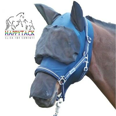 New Busse EXTENSIVE Uveitis Comfort FLY MASK/visor NOSE & EARS Filters Sun Rays