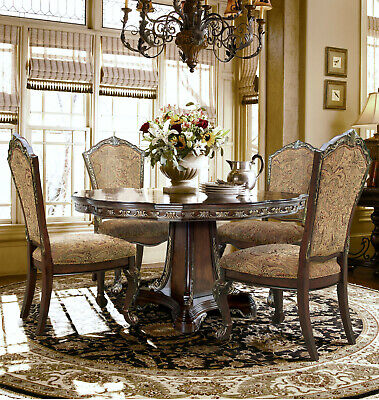 Classic European Formal Rect Dining 9 Pc Set --Rectangle Table--8 Chairs