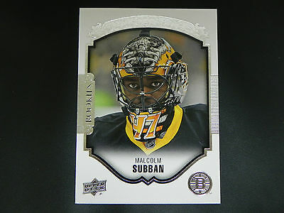2015-16 Upper Deck UD Portraits ROOKIE #P55 Malcolm Subban Boston Bruins RC