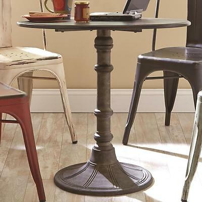 Oswego Distressed Black Round Metal Industrial Bistro Table by Coaster 100063
