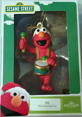 * Elmo Playing Drum  * Ornament Sesame Sreet New In Box !