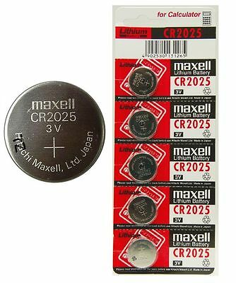 5 x MAXELL CR2025 3v 170mah lithium Battery button cell/coin for calculator