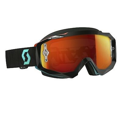 Scott NEW Mx Hustle Angled Black Orange Lens Dirt Bike Tinted Motocross Goggles
