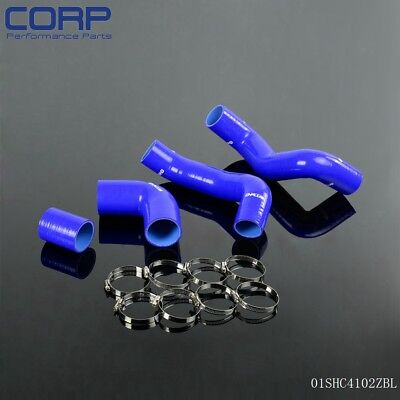 Silicone Intercooler Turbo Pipe Hose Full Kit FOR LAND ROVER FREELANDER TD4 BLUE