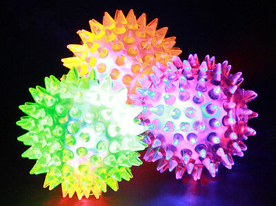 Kids Large Spikey Bounce Ball With Flashing Light & Squeaker Toy Xmas Gift