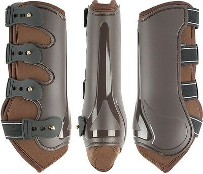 Harry's Horse Protection boots Elite-R Grand Prix Chocolate Brown - Cob size