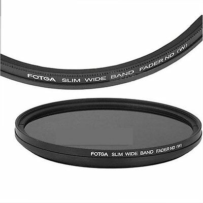 FOTGA 49mm Optical Glass Thin Fader Adjustable Variable ND Filter ND2 to ND400