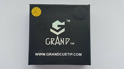 Grand Cue Tips for Snooker or Pool - 10mm MEDIUM