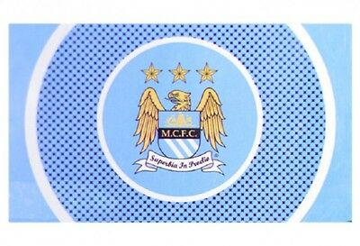 Manchester City FC Bulls Eye Flag 5 x 3 Free UK Postage