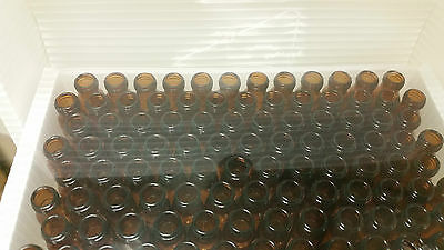 1.5mL Wide Opening Short Screw With Write Spot Amber Glass USP type1 (100 Vials)
