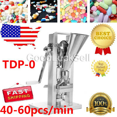 Manual Single Punch Tablet Press Pill Making Machine with Hopper TDP-0(A) FAST
