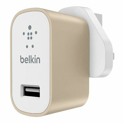 Belkin Premium Universal Fast 2.4A Mains Charger for iPhone iPad Smartphone Tabs