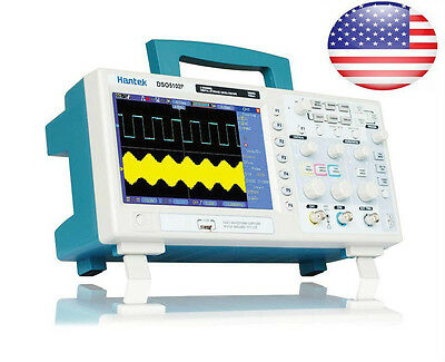 "Hantek DSO5102P Digital Oscilloscope 100MHz 1Gs 2CH 7"" TFT USB Lab US Stock"
