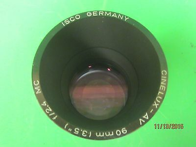 Vintage ISCO PC Cinelux AV 90mm F2.4  Slide Projector Lens
