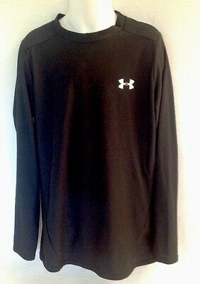 UNDER ARMOUR Black L/S Shirt Skin Base Layer Compression YLG Large Sports