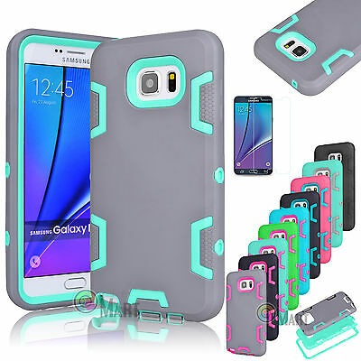 Hybrid Rubber ShockProof Protective Hard Case Cover For Samsung Galaxy Note 5