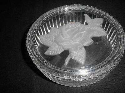 Fabulous 24% Lead Crystal Trinket Dish And Lid