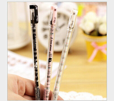 1 box 12pcs music note Children lovely learning stationery Neutral pen gifts