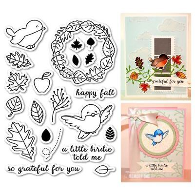 Memory Box - Clear Stamps - AUTUMN BIRDIE CL5158