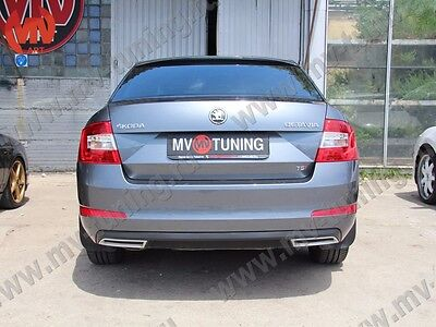 MV-Tuning Covers Imitating Exhaust for Skoda Octavia A7 III Painted 2013-2017