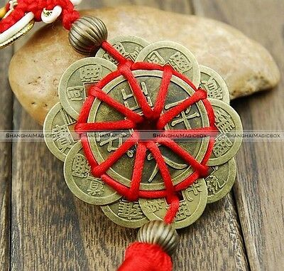 Feng Shui Mystic Knot 10 Chinese Lucky Coins Cures Home Career Health Wealth