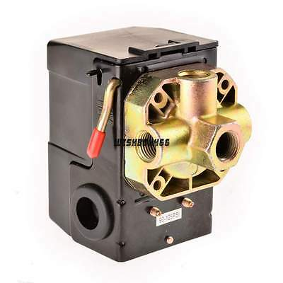125PSI Air Compressor Replacement Pressure Switch Control 4Port Valve Heavy Dudy