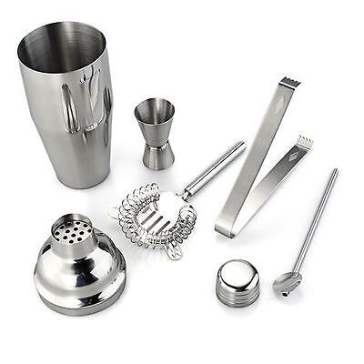 5pcs/Set Cocktail Shaker Stainless Steel Bartender Tools Kit Mixer Drink Bar