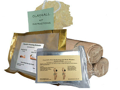 300gms Bums Tums Body Wrap Kit with 3 Ace Type Body Wrap Bandages
